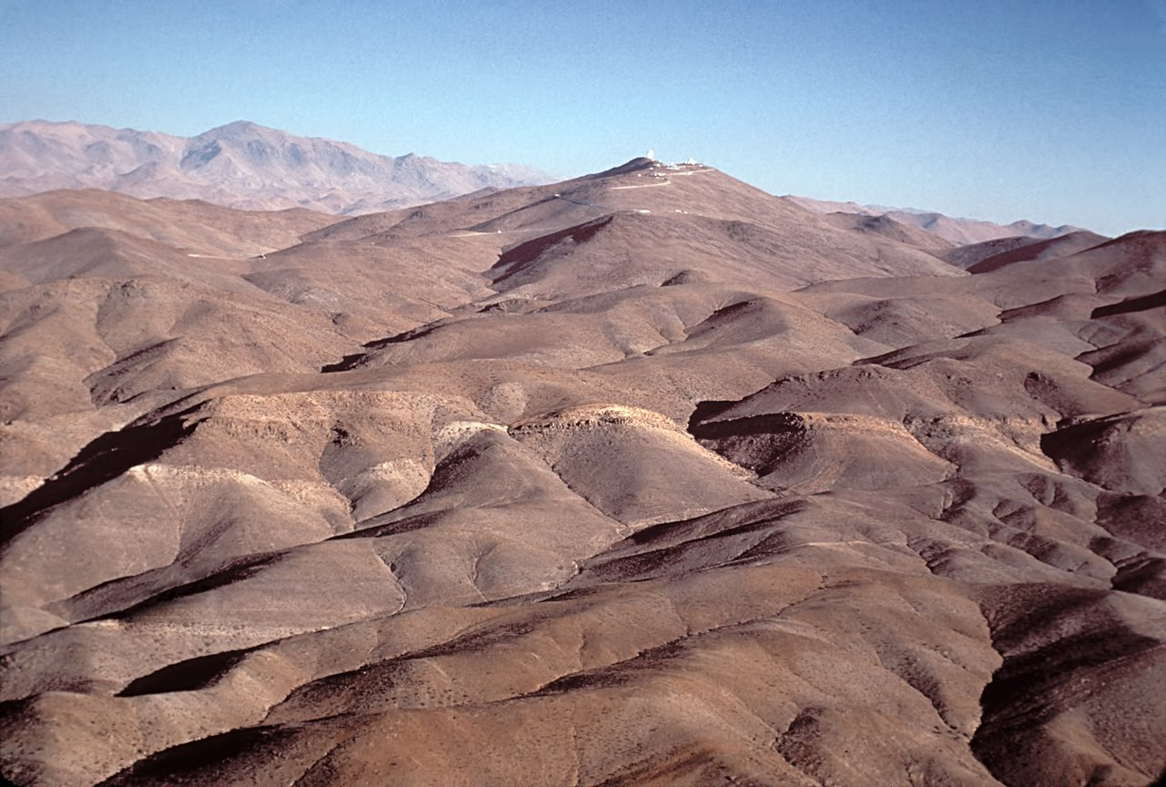 Aerial view of La Silla, seen from the North