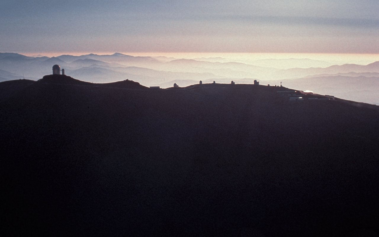 Aerial view of La Silla observatory, 1980