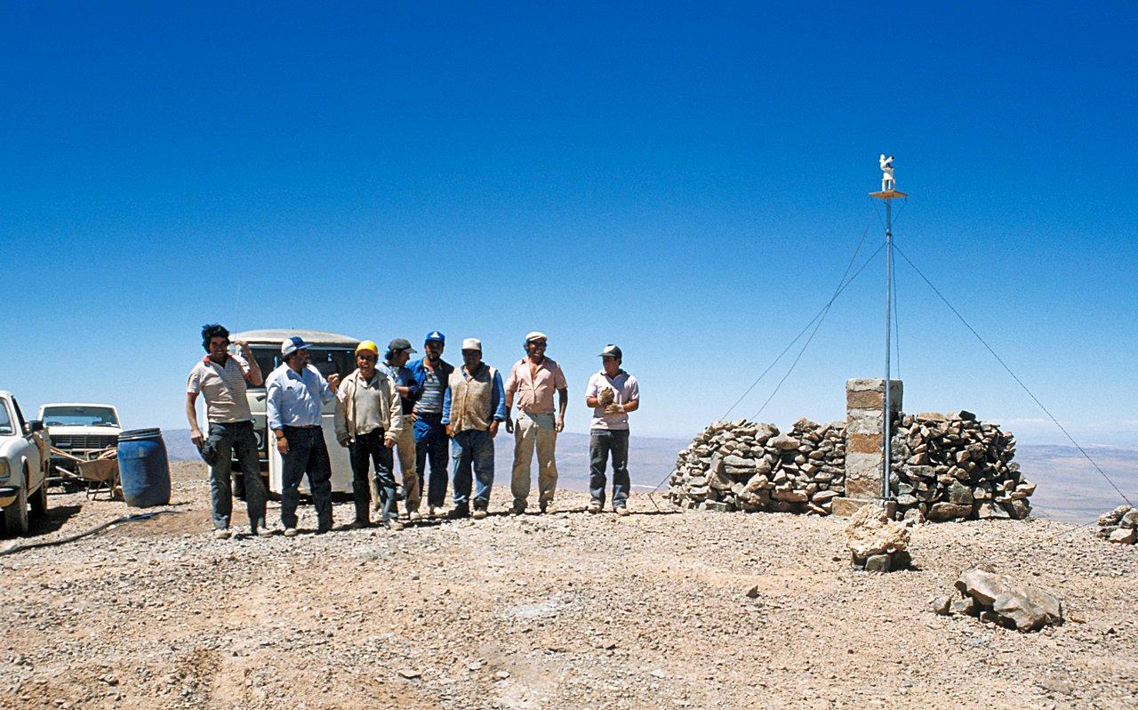 Armazones team during site testing
