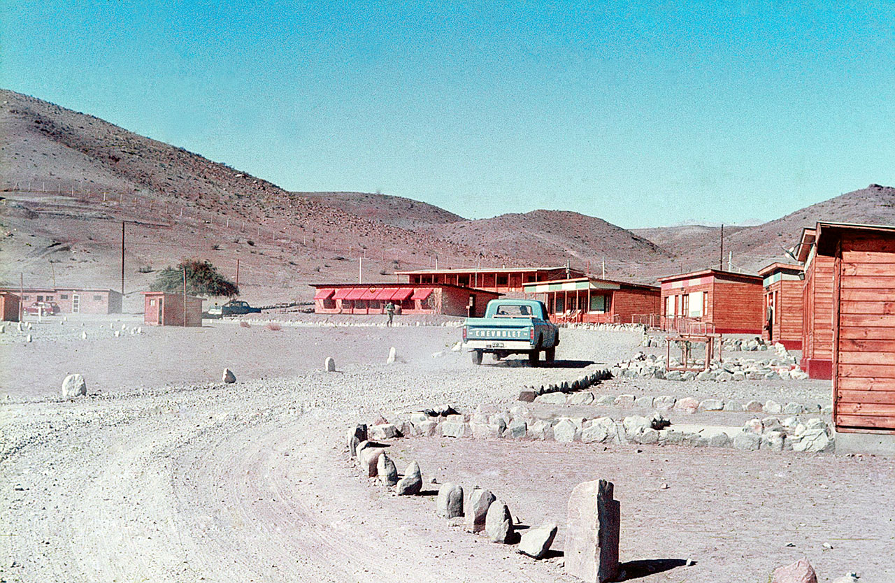 The Pelicano Camp, the entrance to the La Silla observatory.