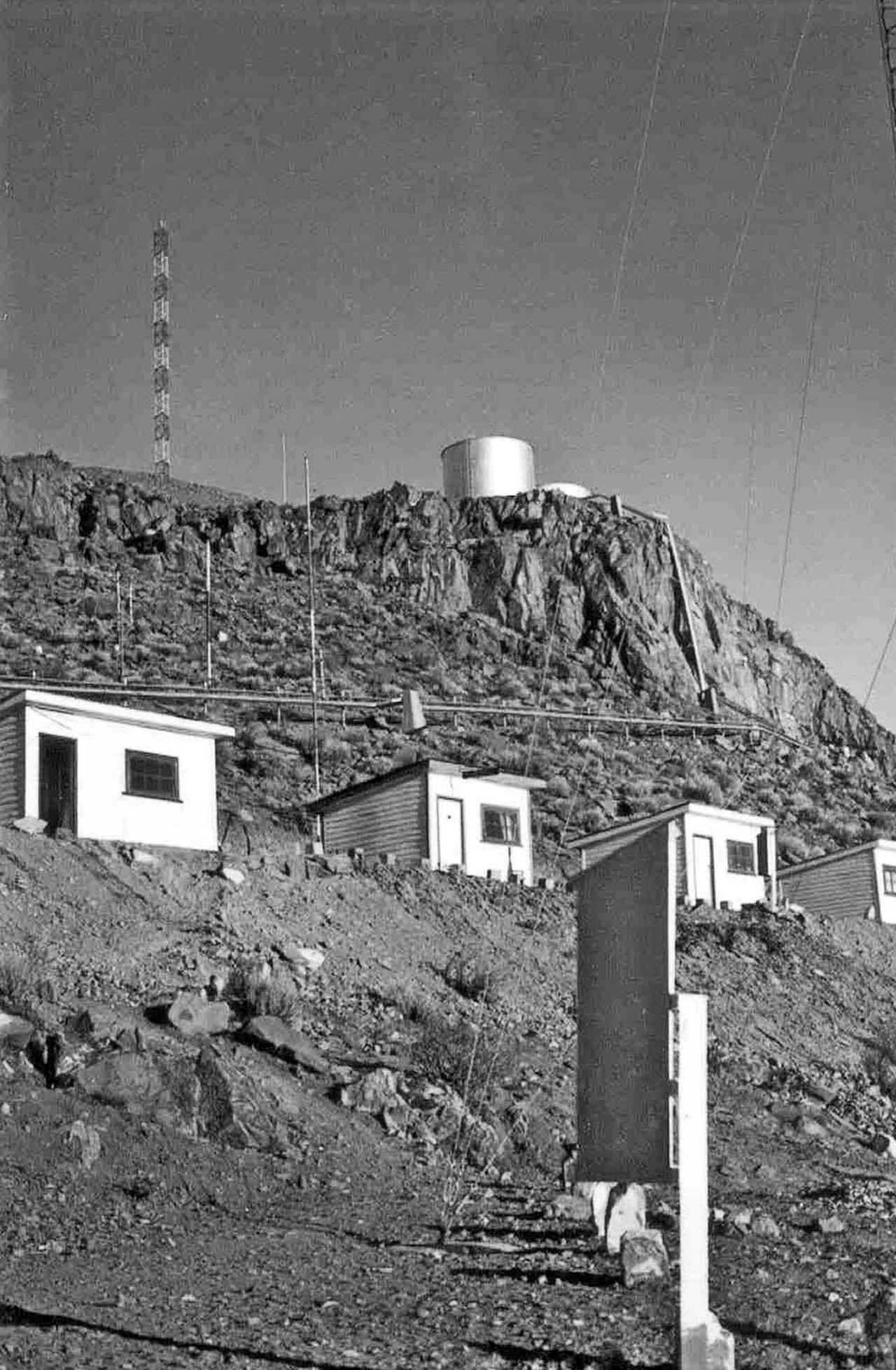 La Silla observatory under construction
