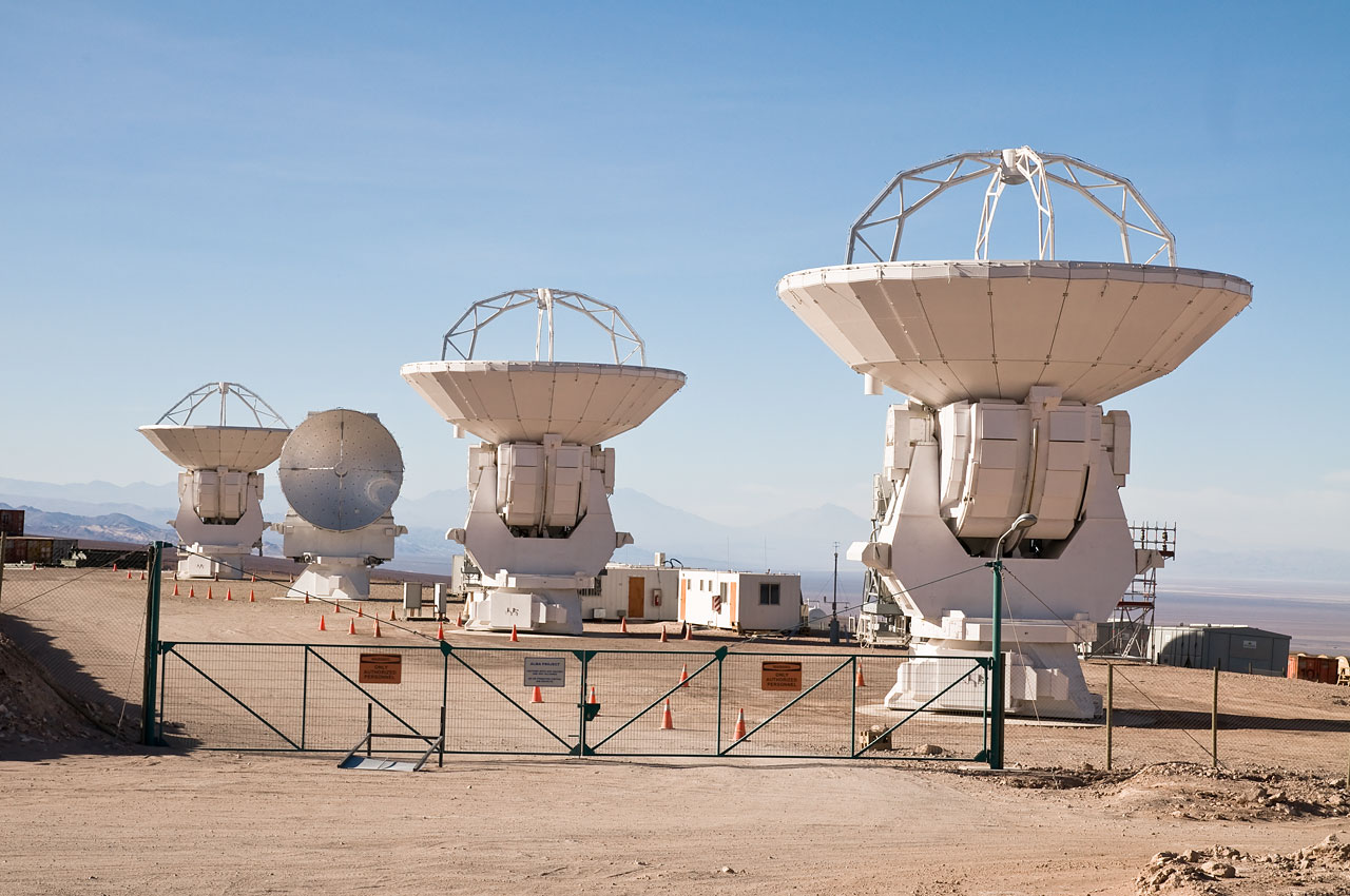 Four Japanese antennas for ALMA