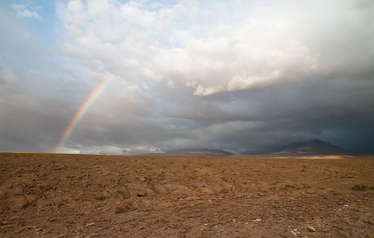 Rainbow over the ALMA site