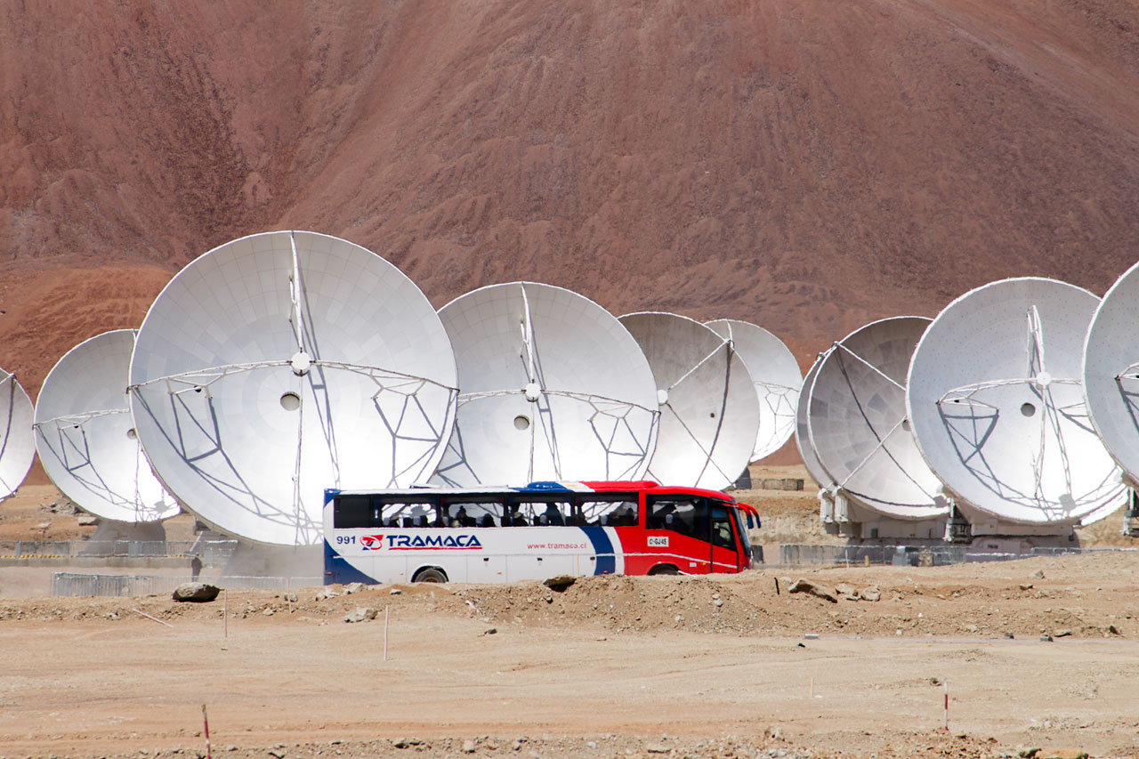 Busses at the ALMA high site