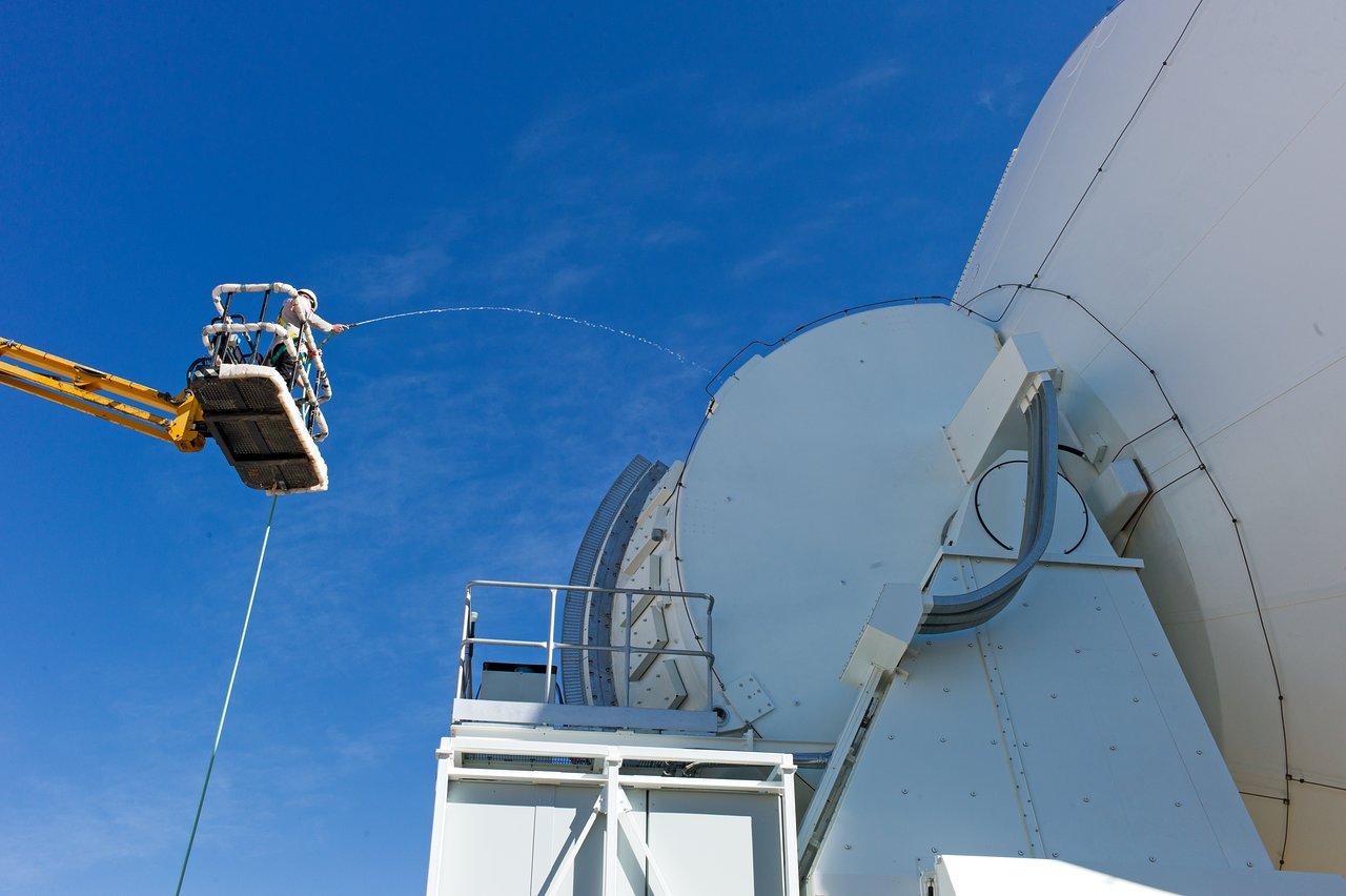 Water testing ALMA antennas