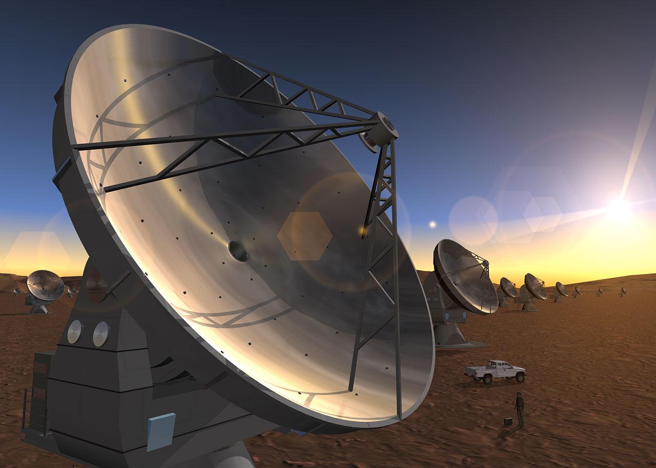 ALMA Antennas (artist's impression)