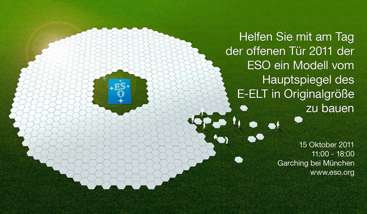 Künstlerische Darstellung des E-ELT-Hauptspiegels