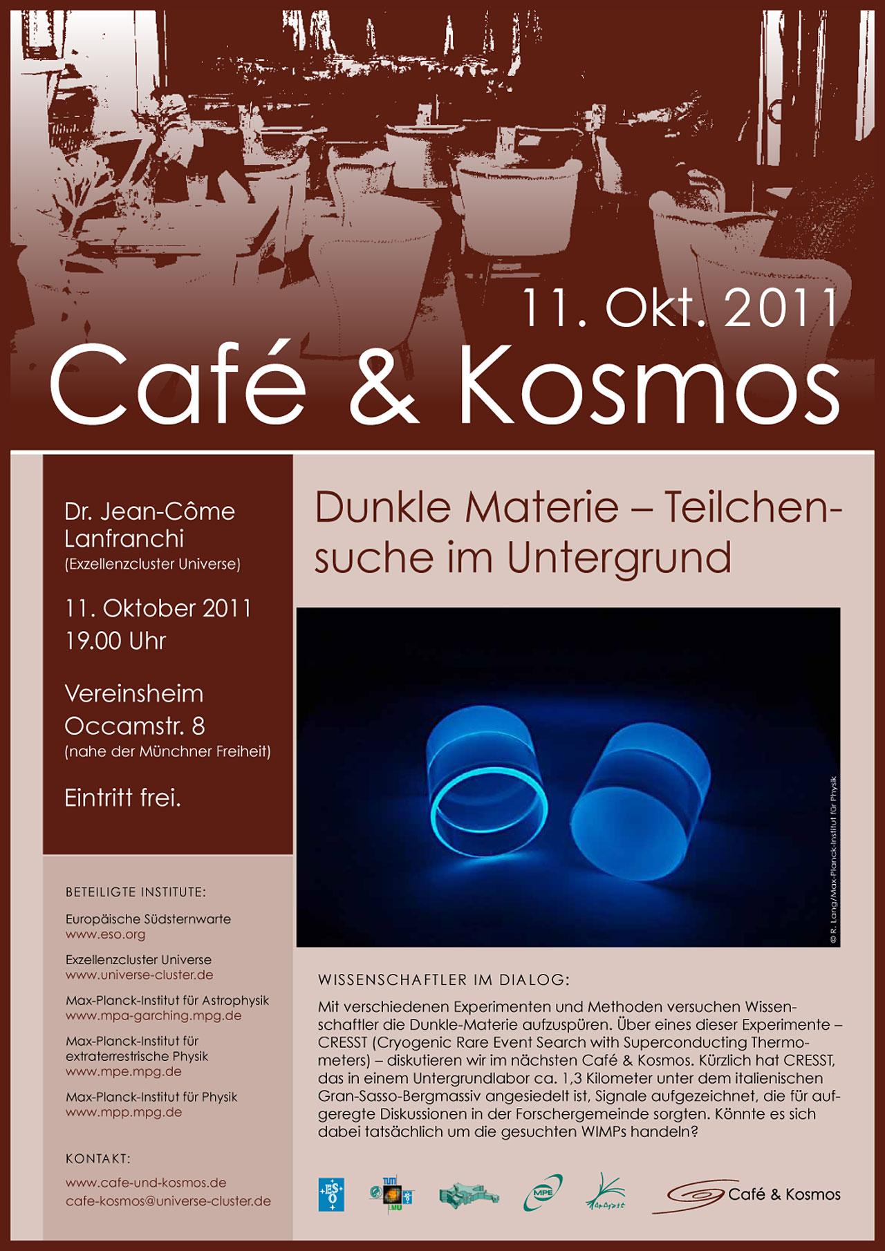 Poster: Café & Kosmos — Dunkle Materie