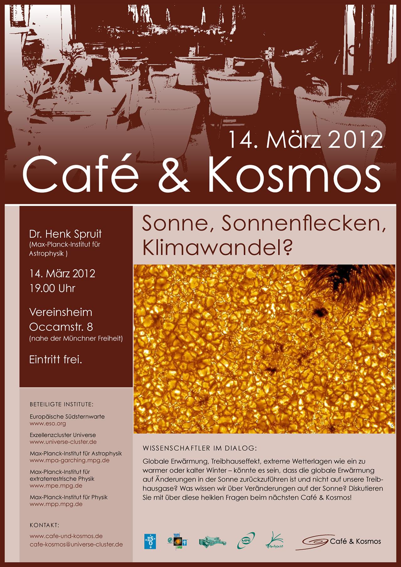 Pôster do Café & Kosmos, 14 de Março de 2012