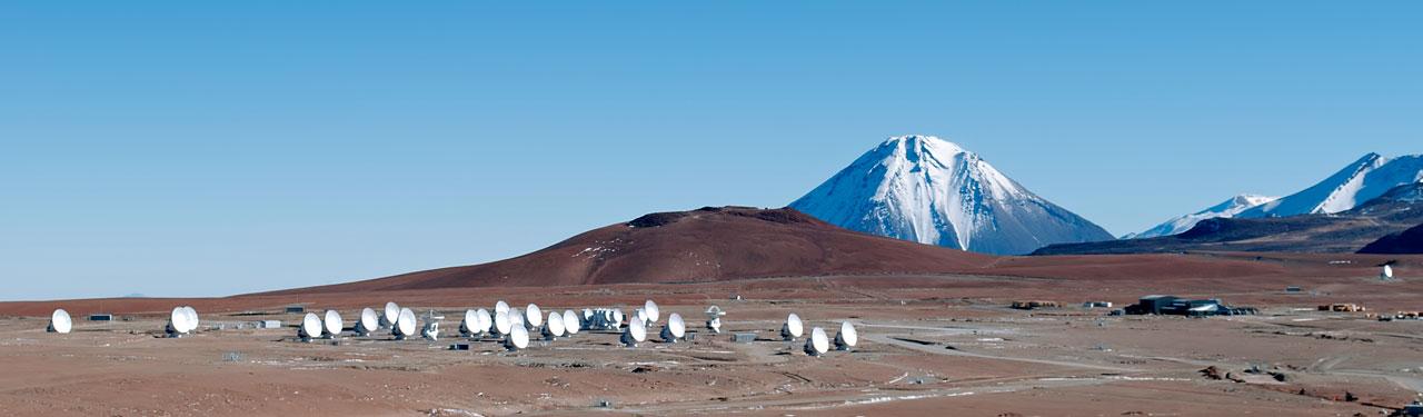 На полпути: 33 антенны ALMA на Чахнанторе