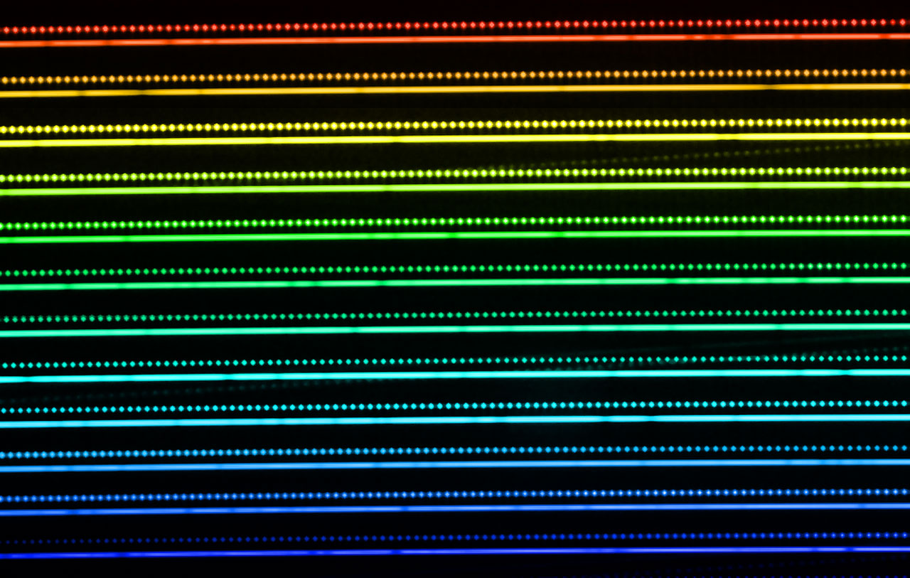 Laserfrequenzkamm in Aktion