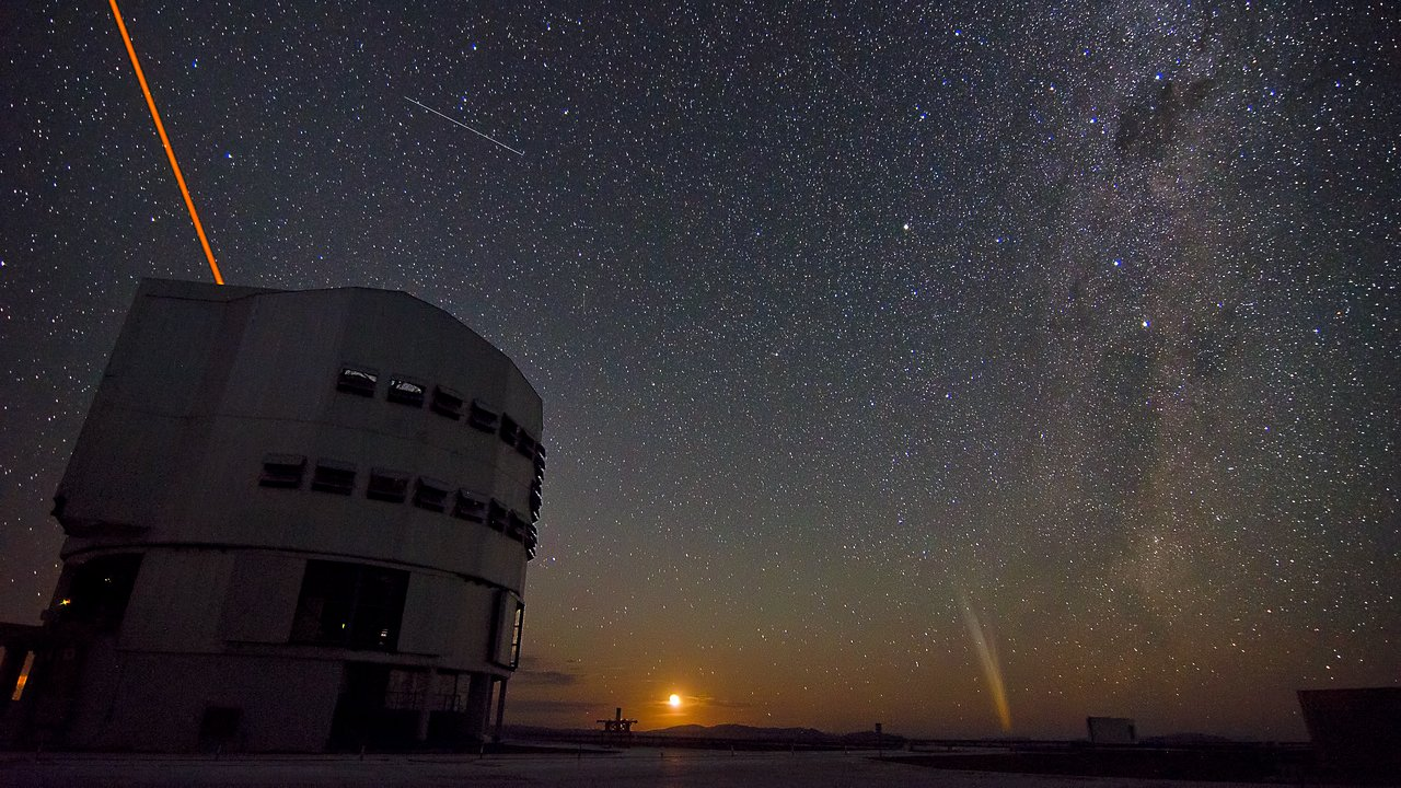 ESO's Paranal Observatory by night