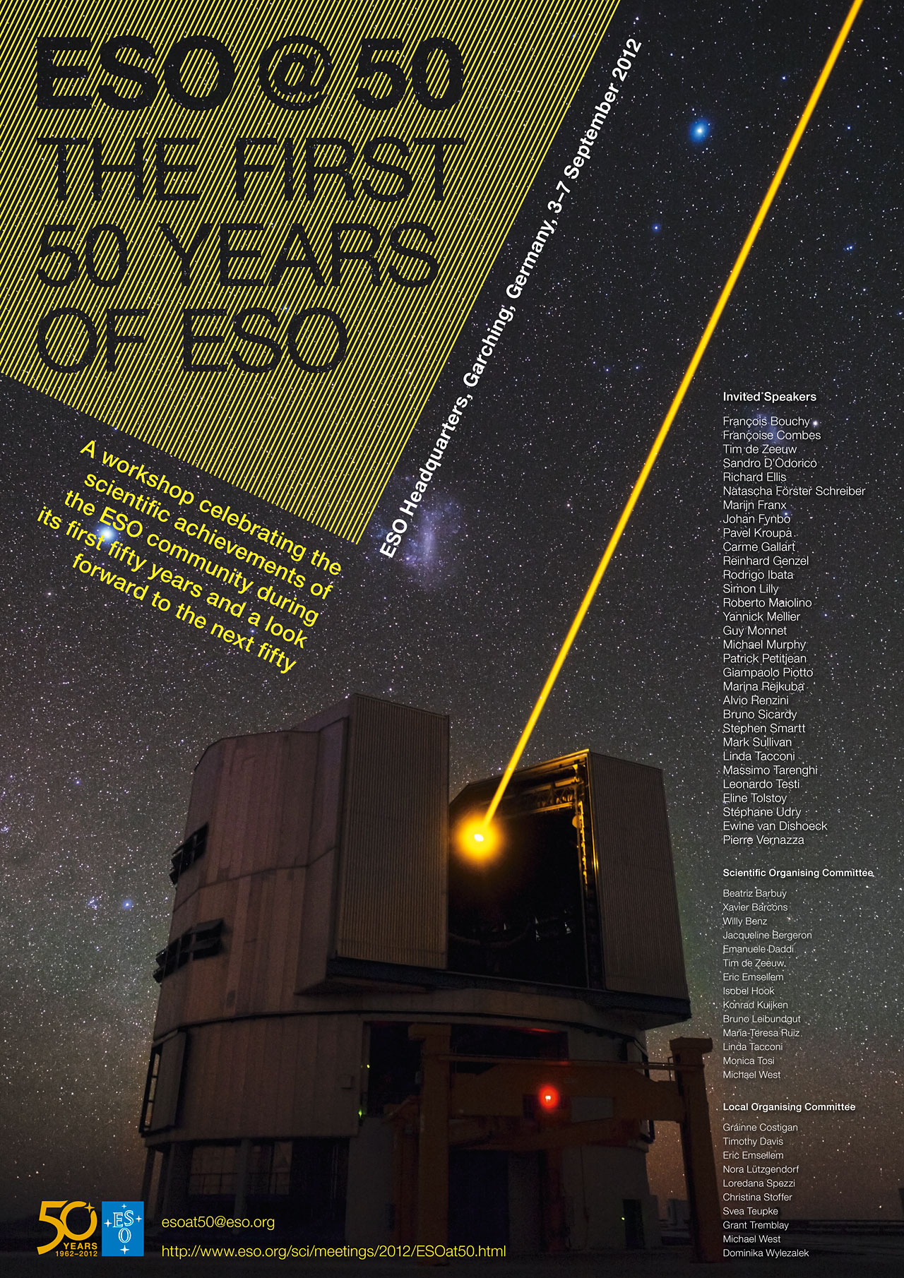Pôster do workshop científico ESO@50