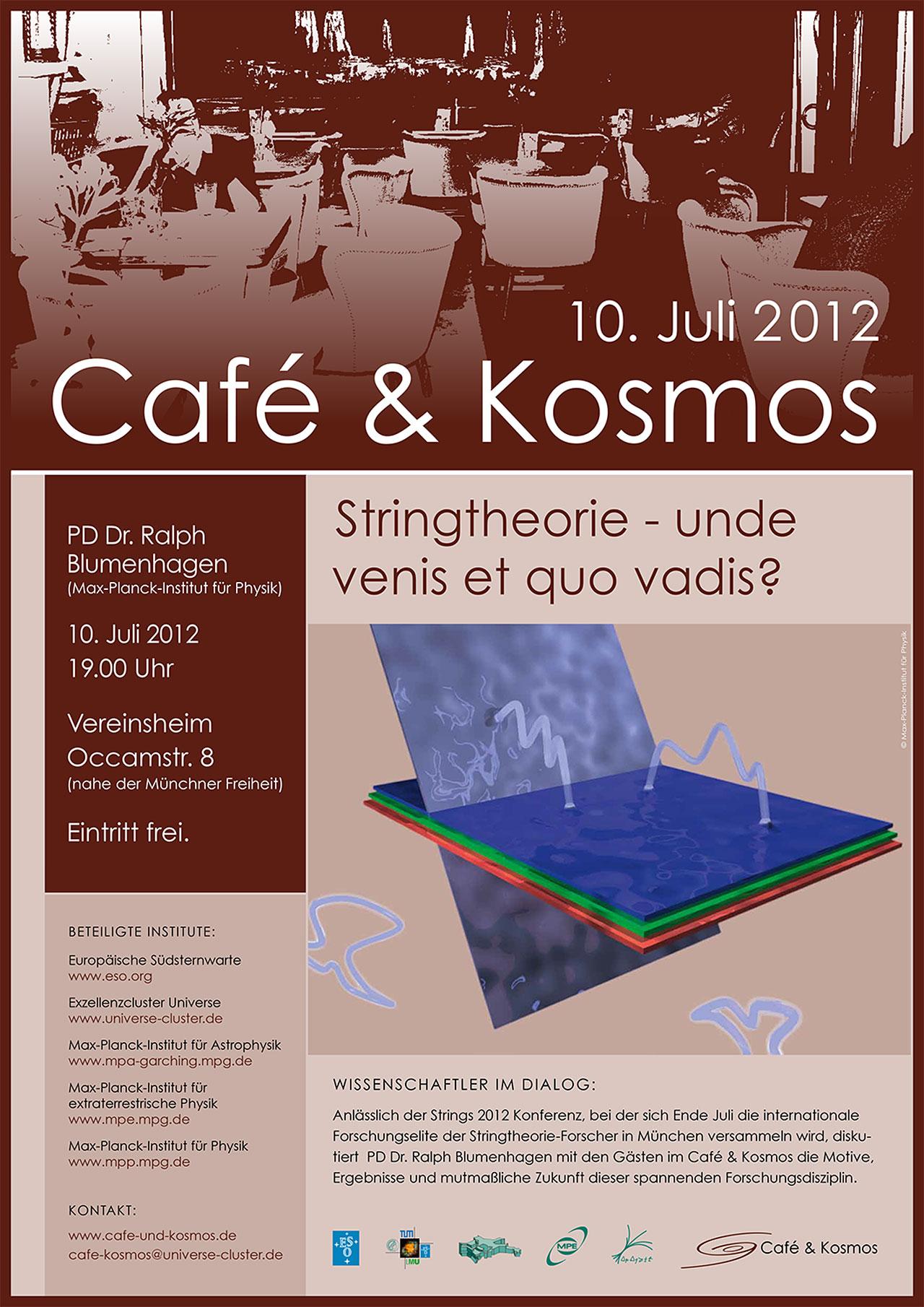 Poster zu Café & Kosmos am 10. Juli 2012