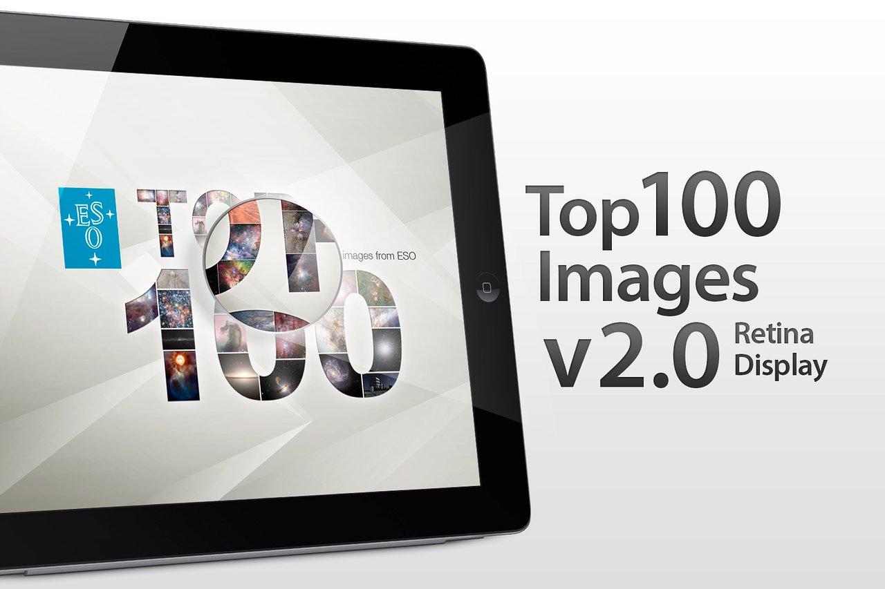 Version 2.0 der Top 100 Bilder-App der ESO