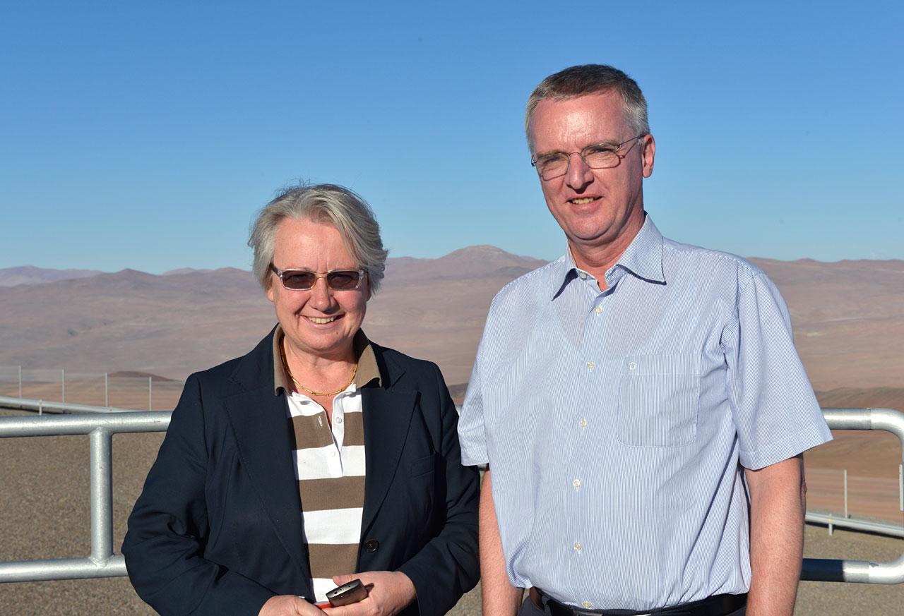 Визит федерального министра образования и исследований Германии в обсерваторию ESO Паранал