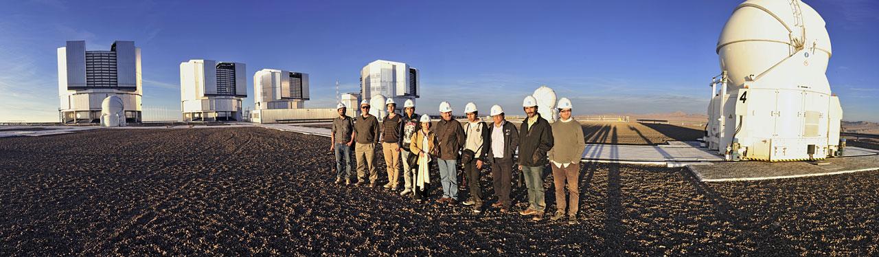 Workshop participants visit the Paranal Observatory