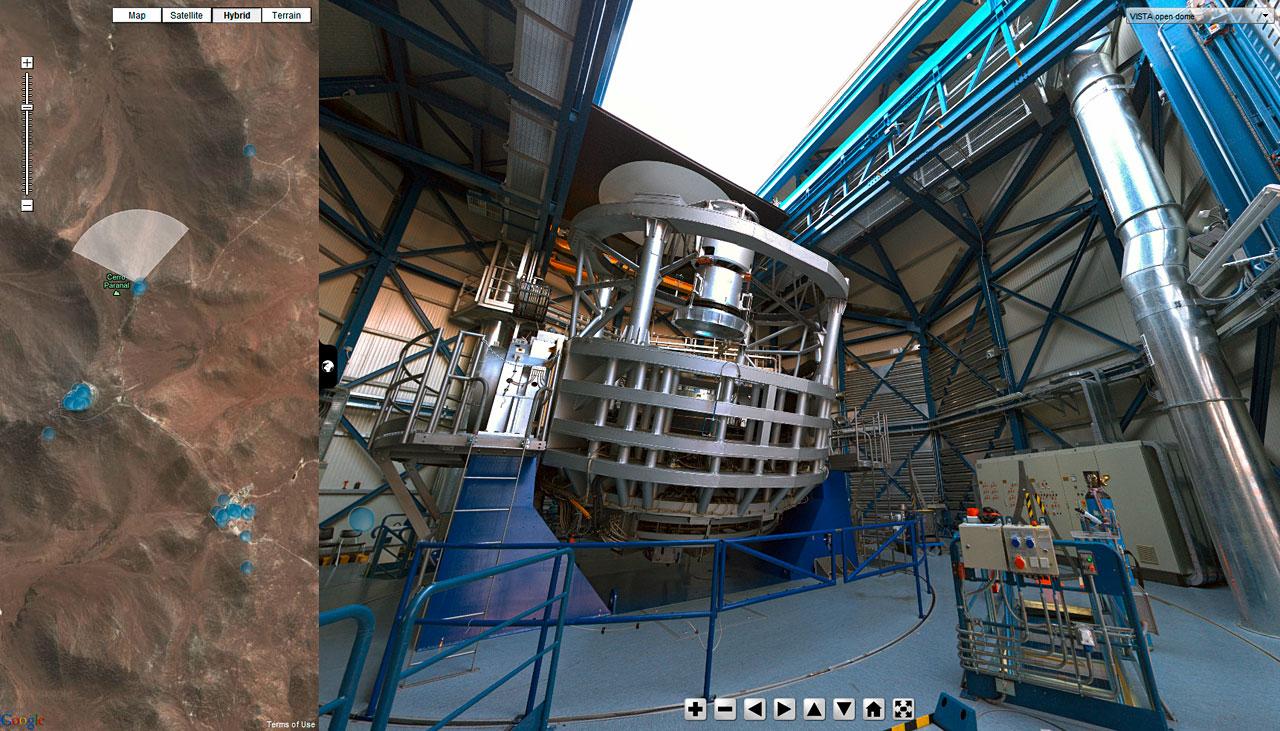 Bildschrimfoto der Version 4.0 der virtuellen Touren der ESO