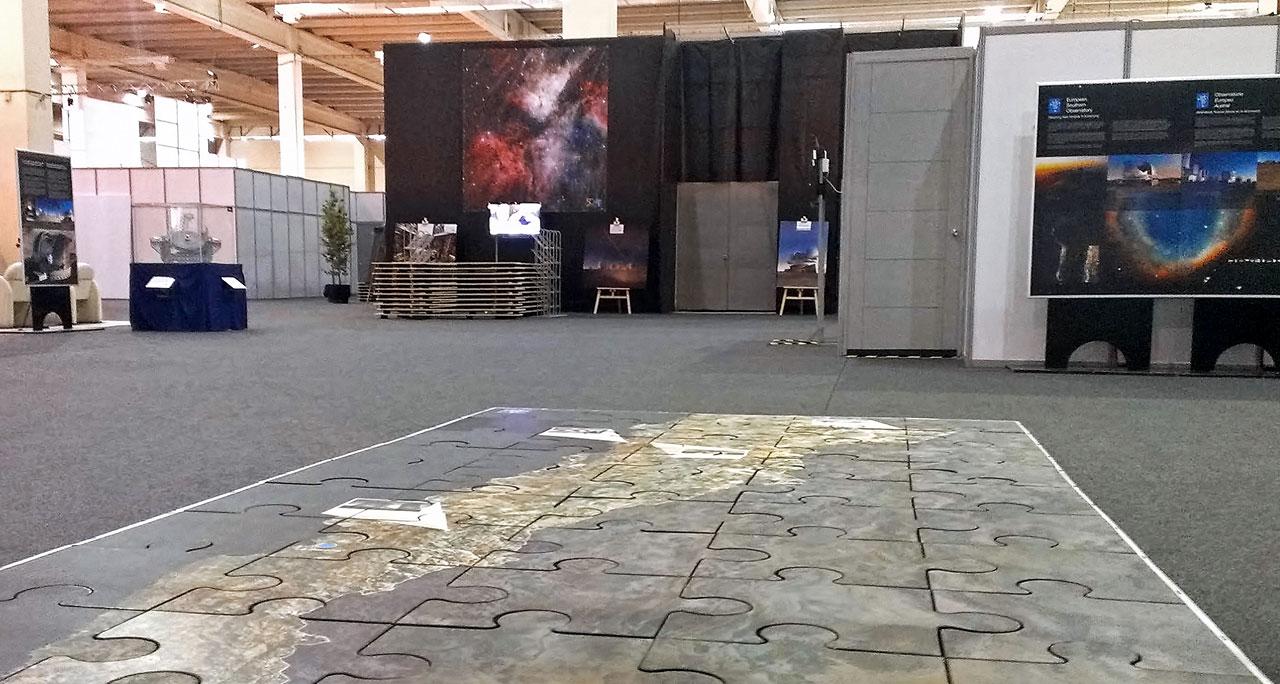 El área de exposición ESO en la Cumbre CELAC-UE