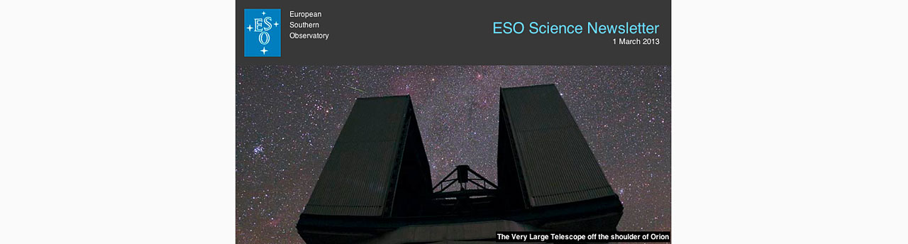 Der ESO Science Newsletter
