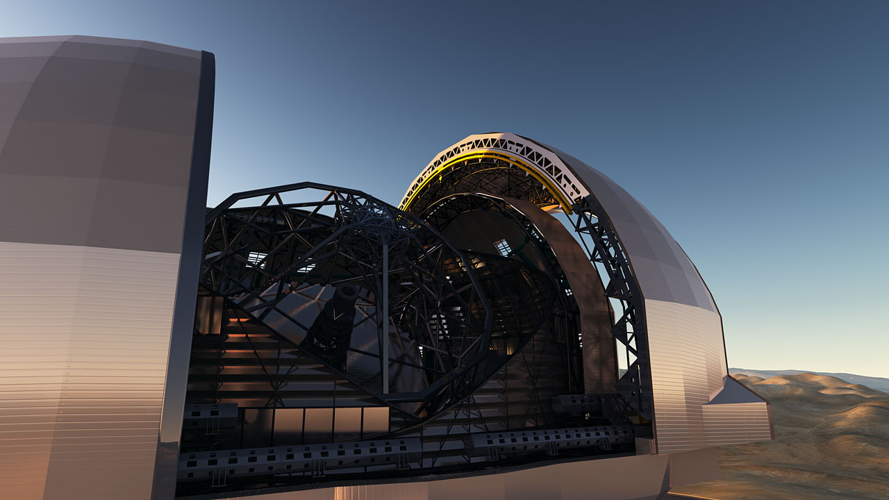 Artist's impression of the European Extremely Large Telescope