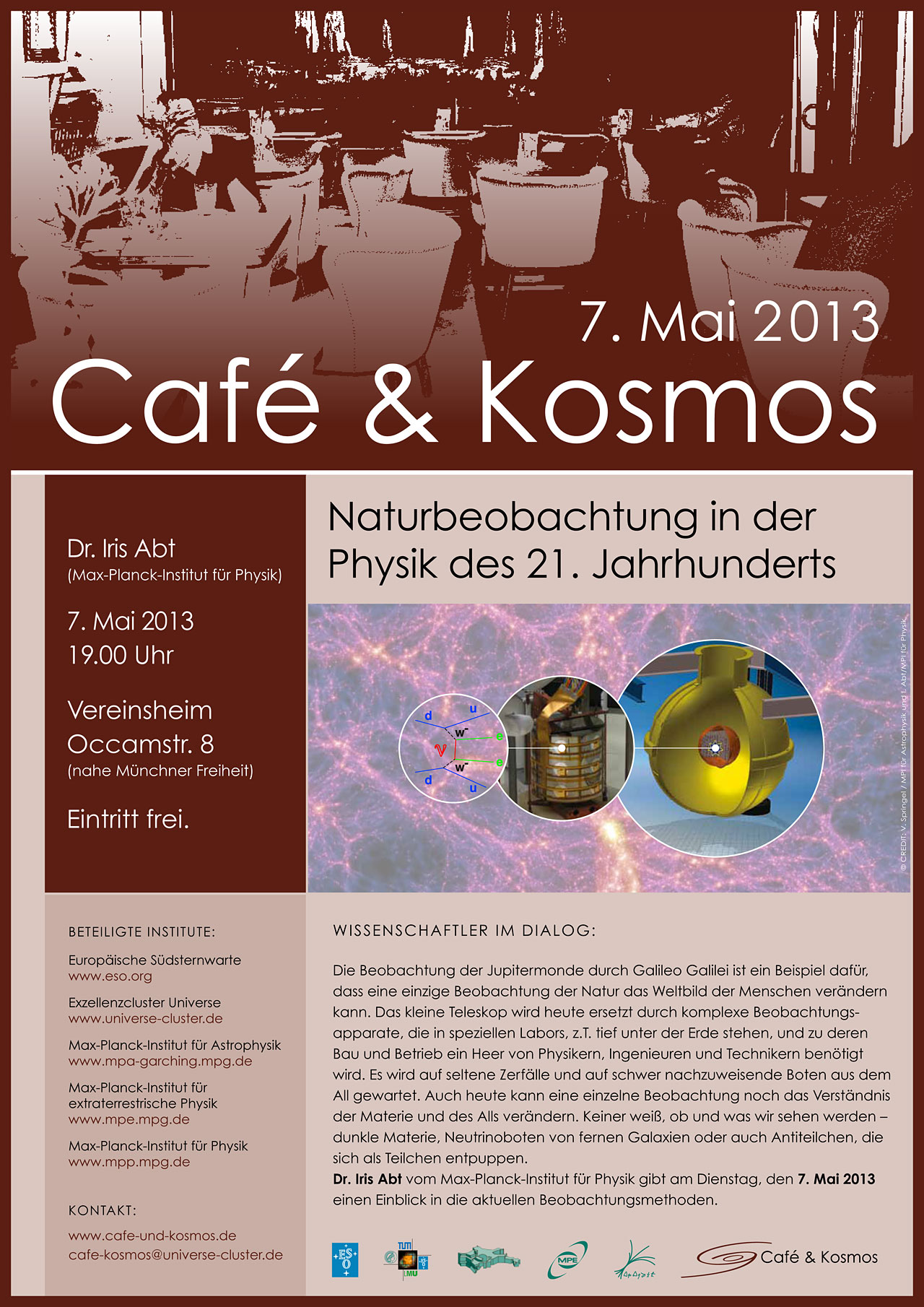 Poster zu Café & Kosmos am 7. Mai 2013