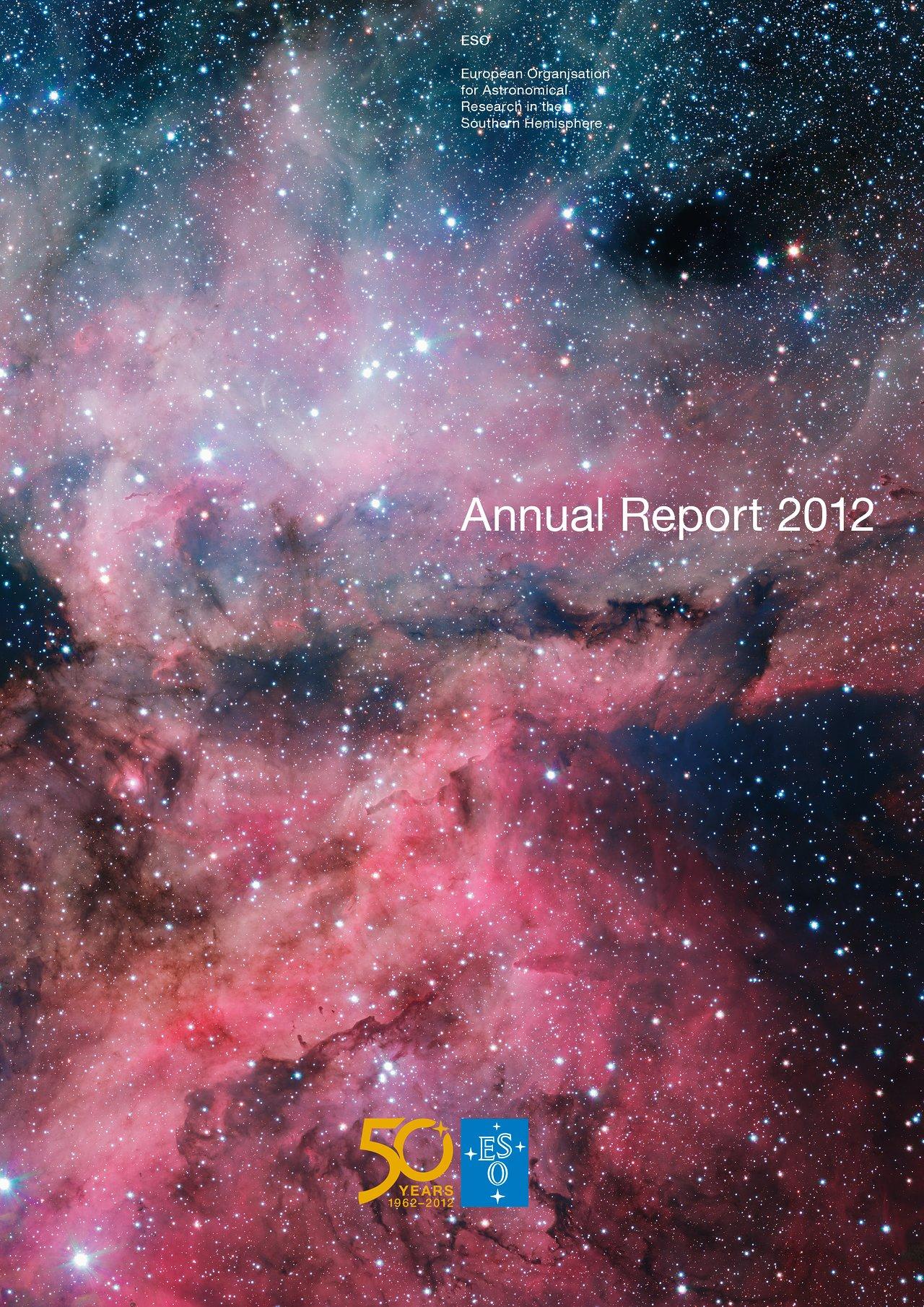 Titelseite des ESO-Jahresberichts 2012
