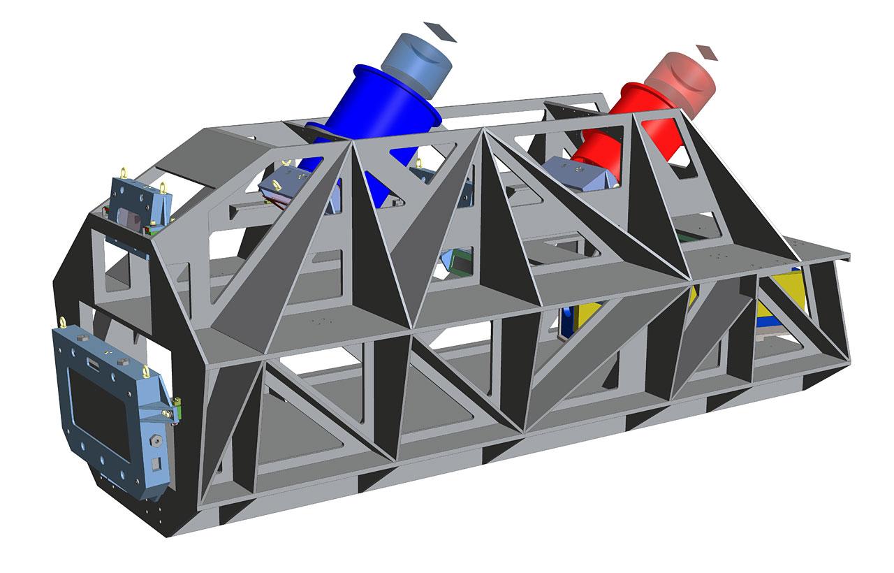 Technisches Rendering des ESPRESSO-Instruments