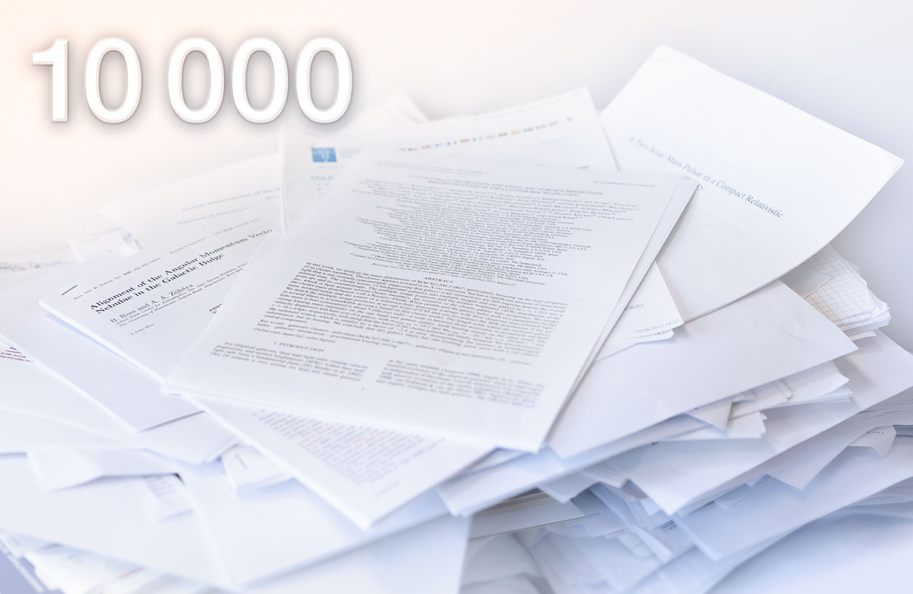 10000 papers from ESO data