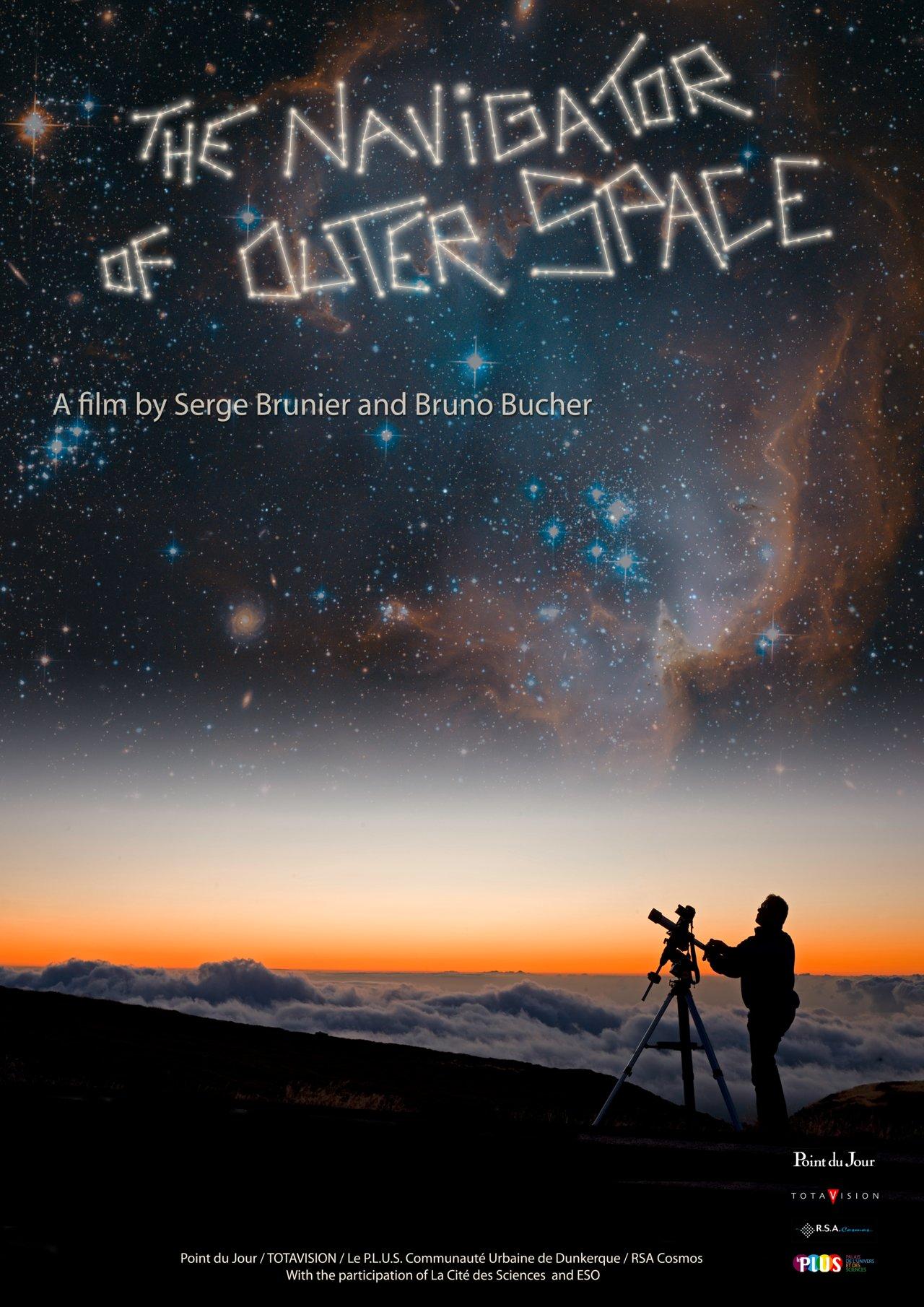 """The poster of the planetarium show """"Le Navigateur du Ciel"""""""