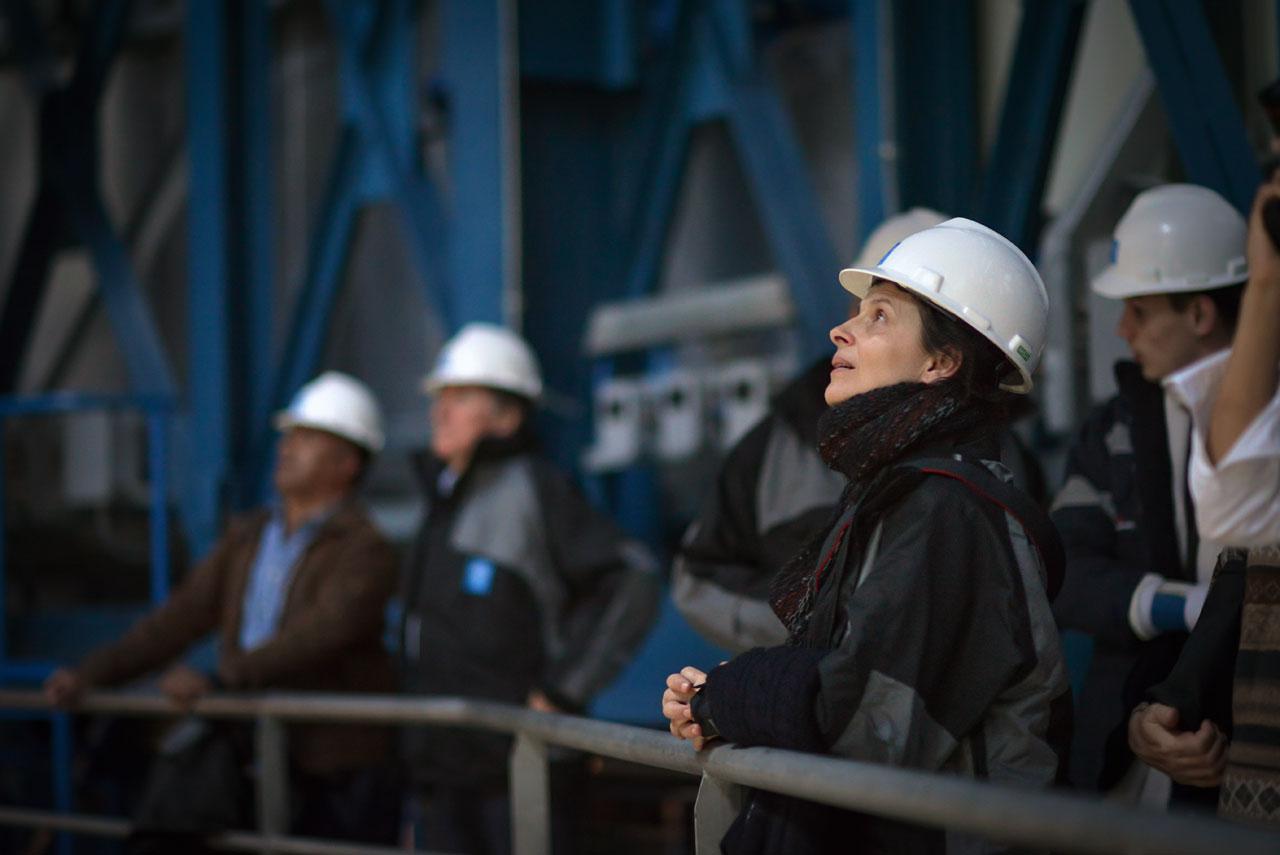 Die französische Schauspielerin Juliette Binoche in einer der VLT-Anlagen