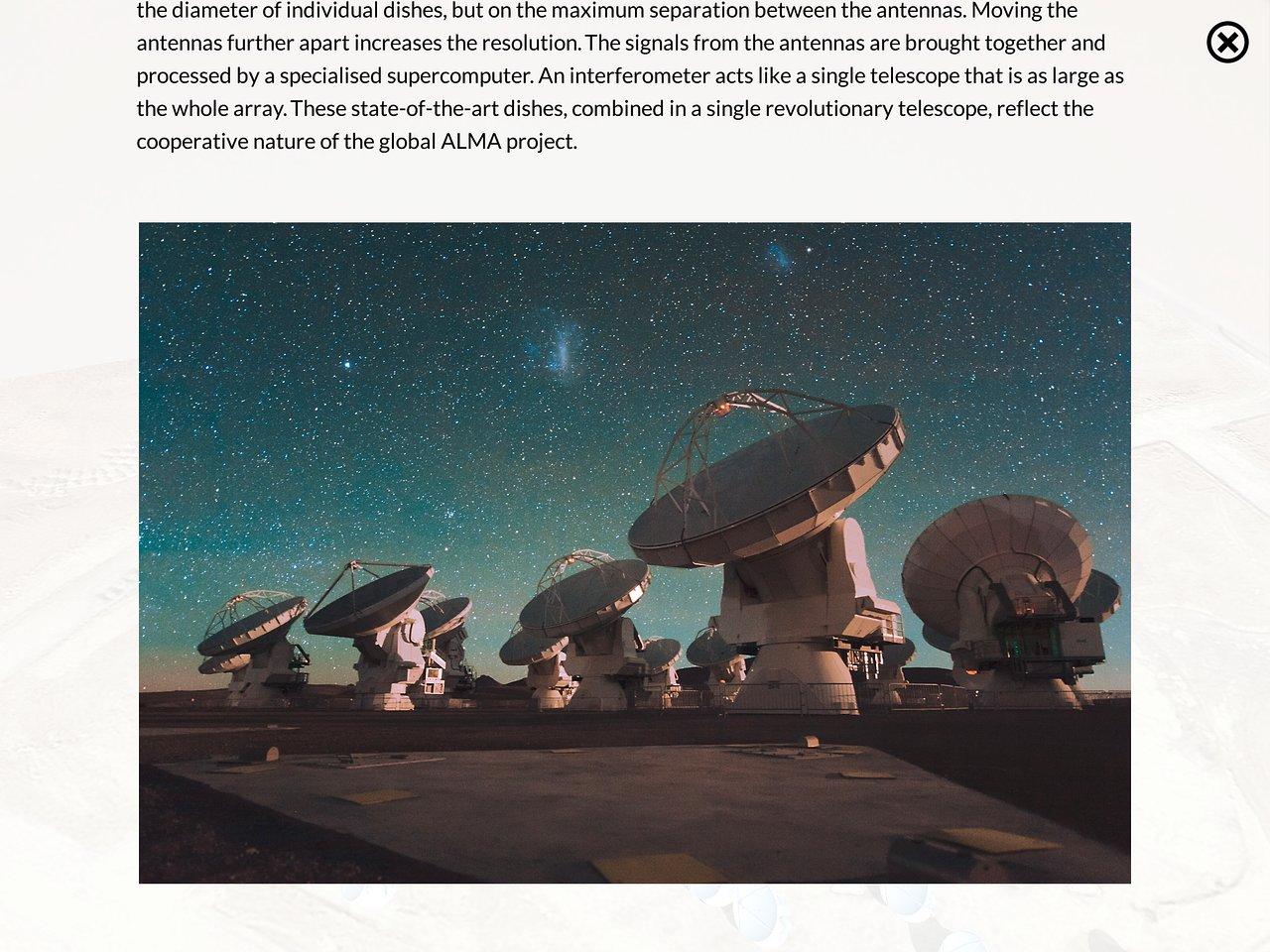 Screenshot of the ALMA Augmented Reality App