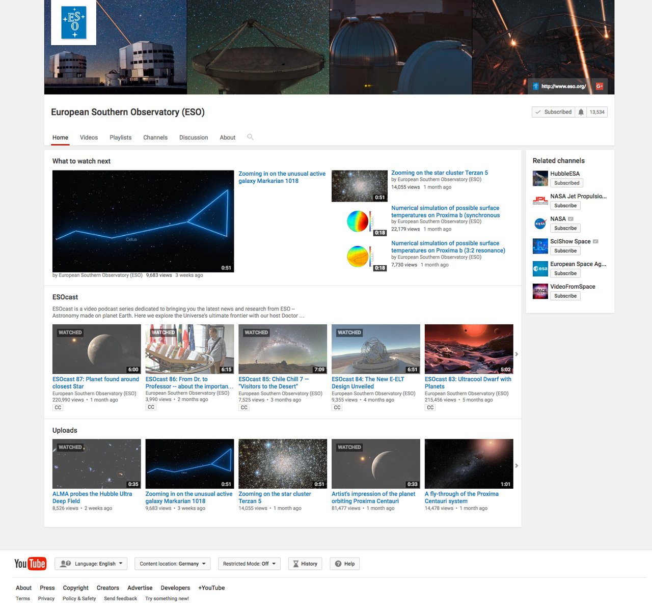 ESO racks up five million views on YouTube | ESO