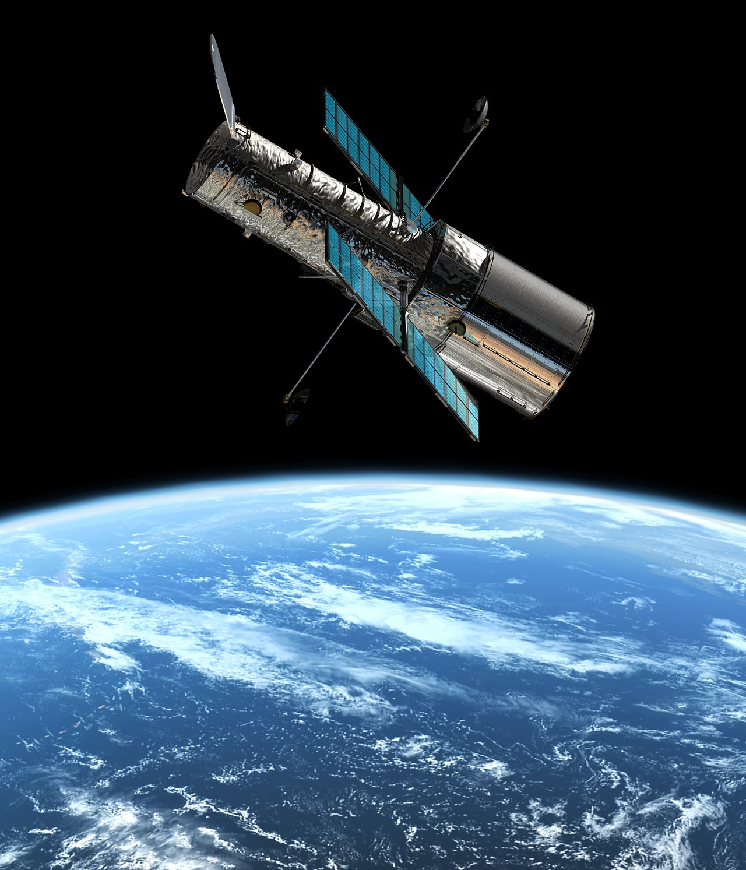 Il Telescopio Spaziale Hubble in orbita