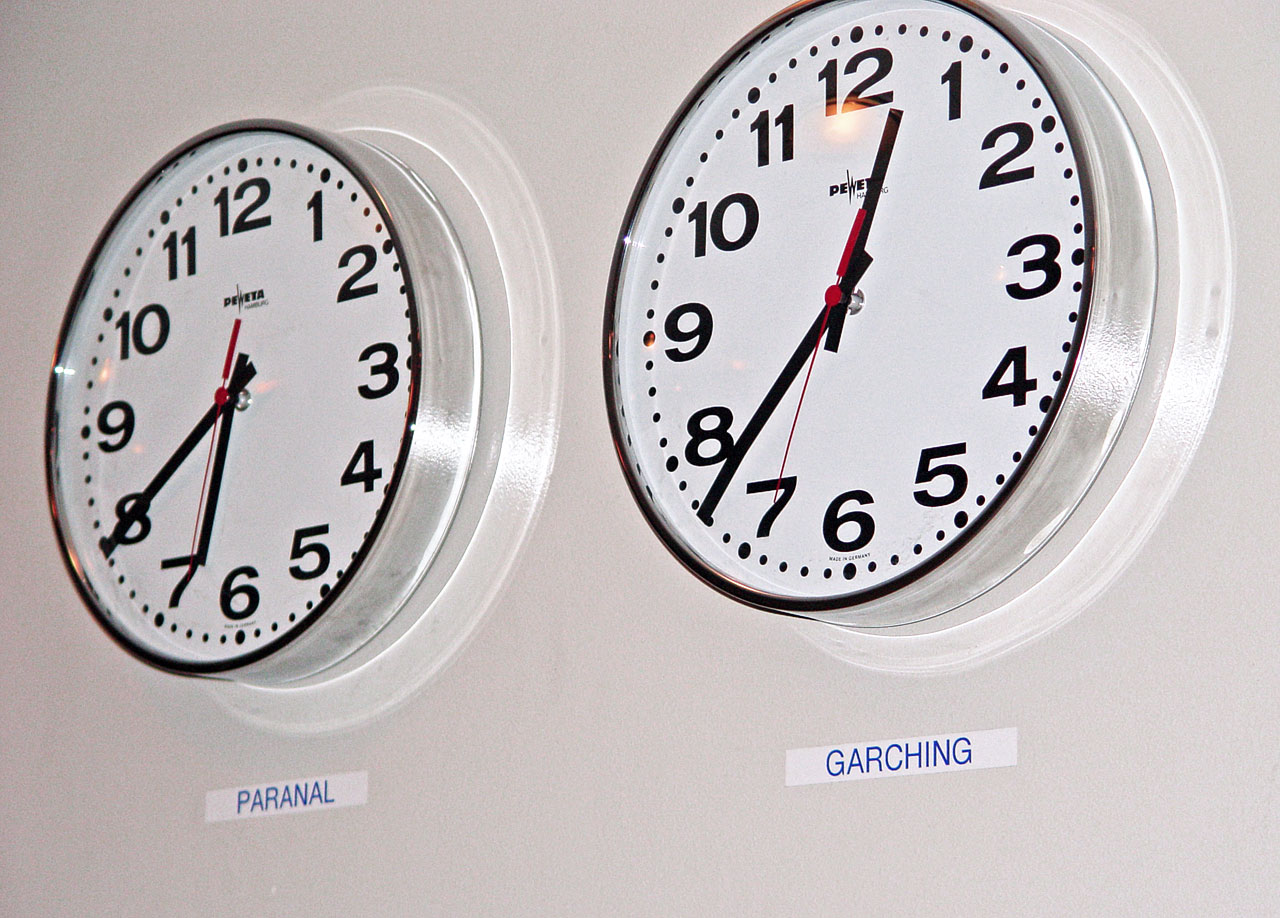 Clocks at Paranal