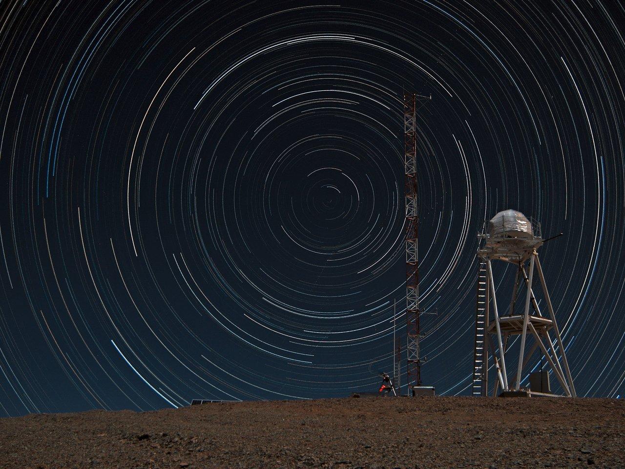 Stars Trails over Armazones