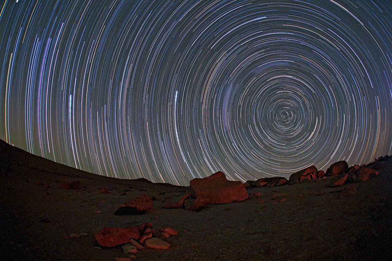Circumpolar startrails over the Atacama