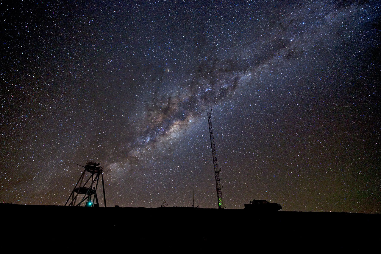 The Milky Way over Cerro Armazones