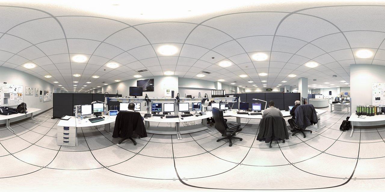 Control room at night