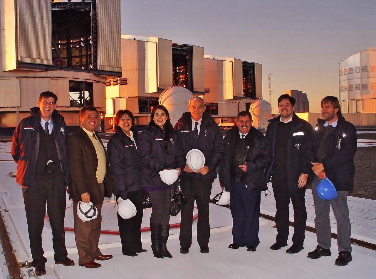 The Chilean Directorate General of Civil Aeronautics visits Paranal