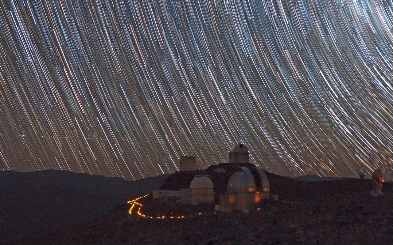 Mounted image 189: Stars Trails over La Silla