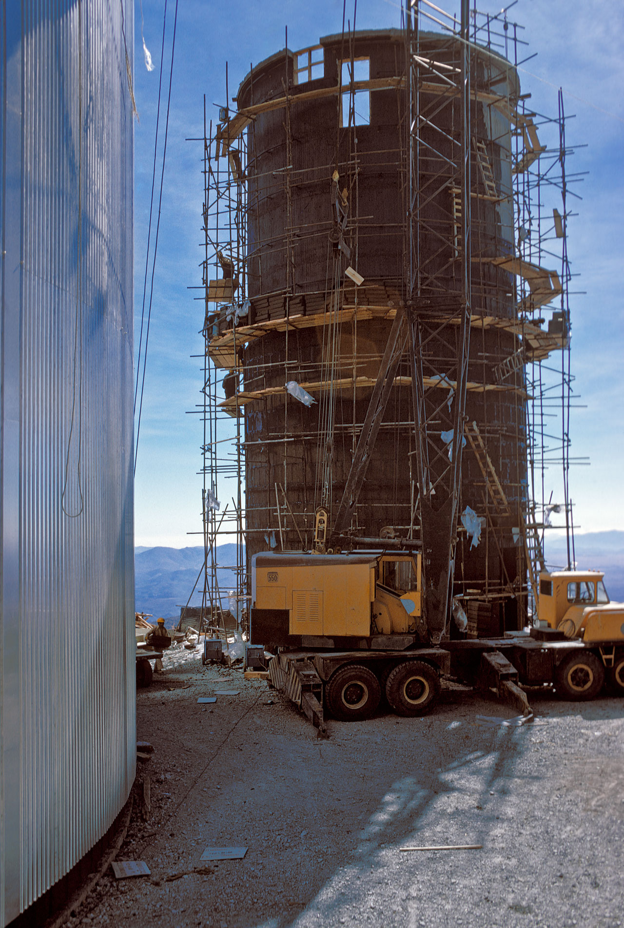 Construction of the Coudé Auxiliary Telescope