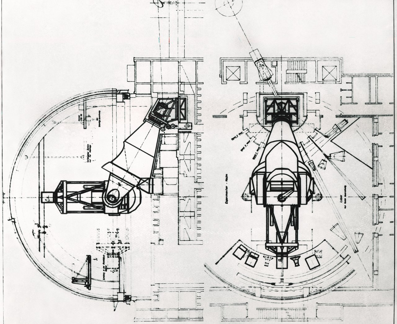 ESO 3.6-metre telescope design drawings