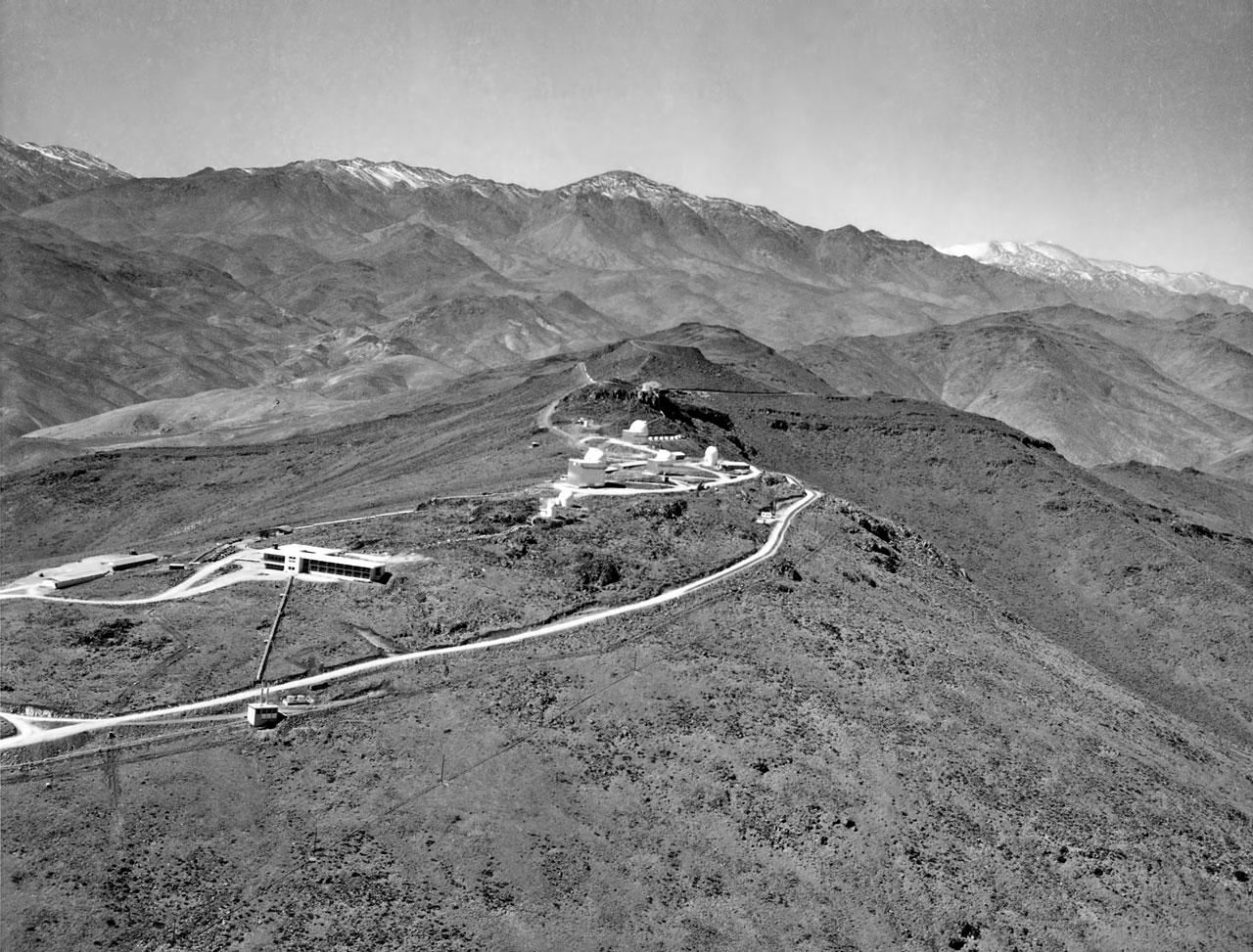 Flying above La Silla in 1970