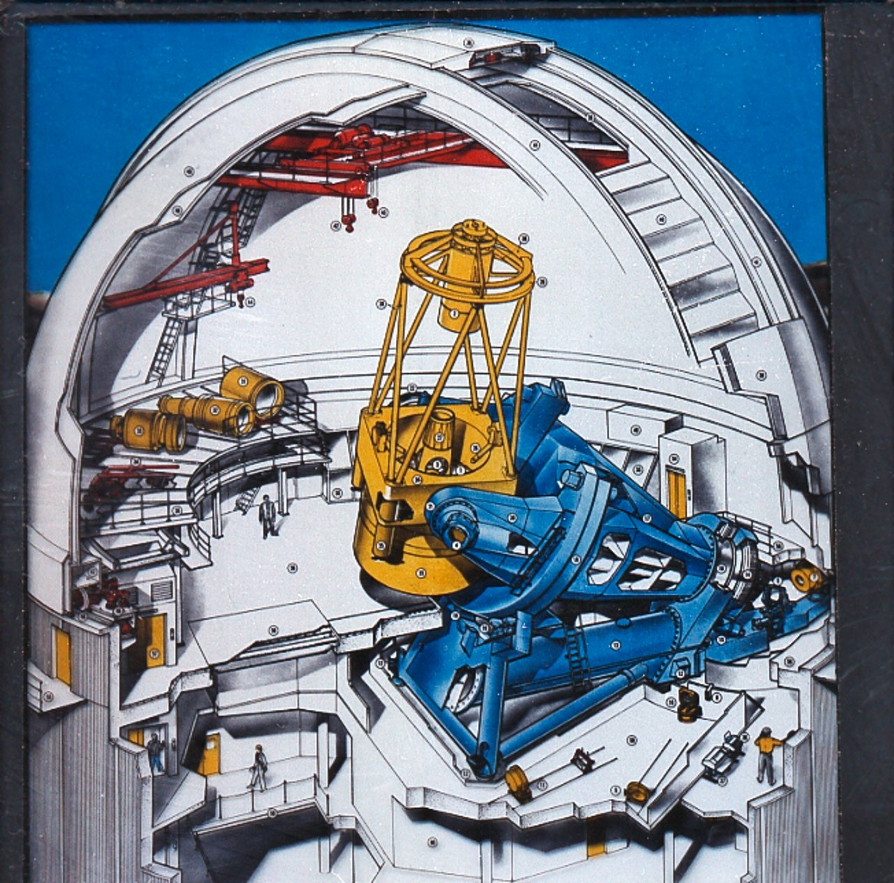 A Cut-away Poster of the ESO 3.6-metre Telescope Dome