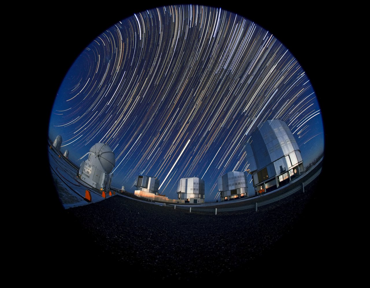 End of the night at Paranal Observatory