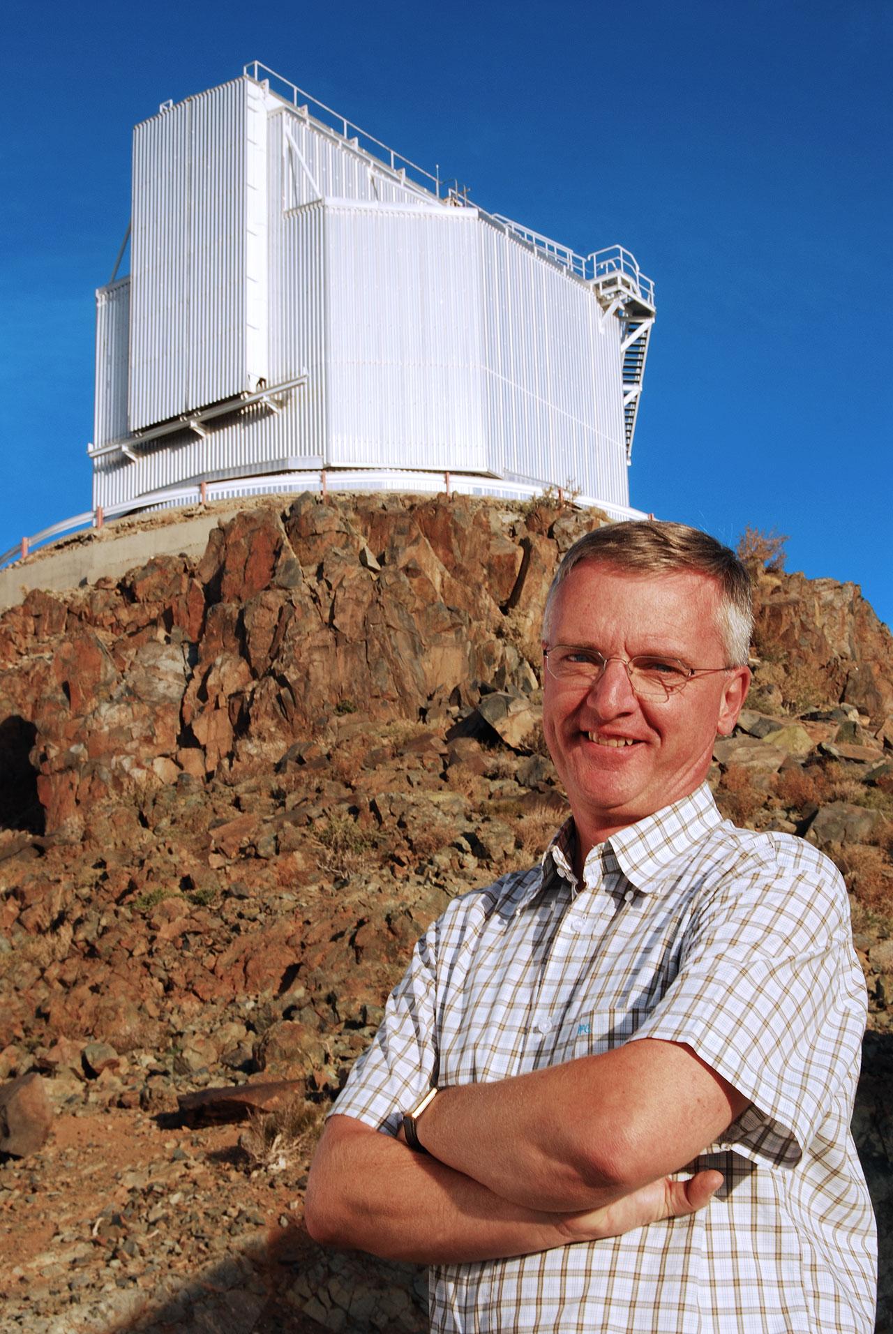 Prof. Tim de Zeeuw visiting La Silla