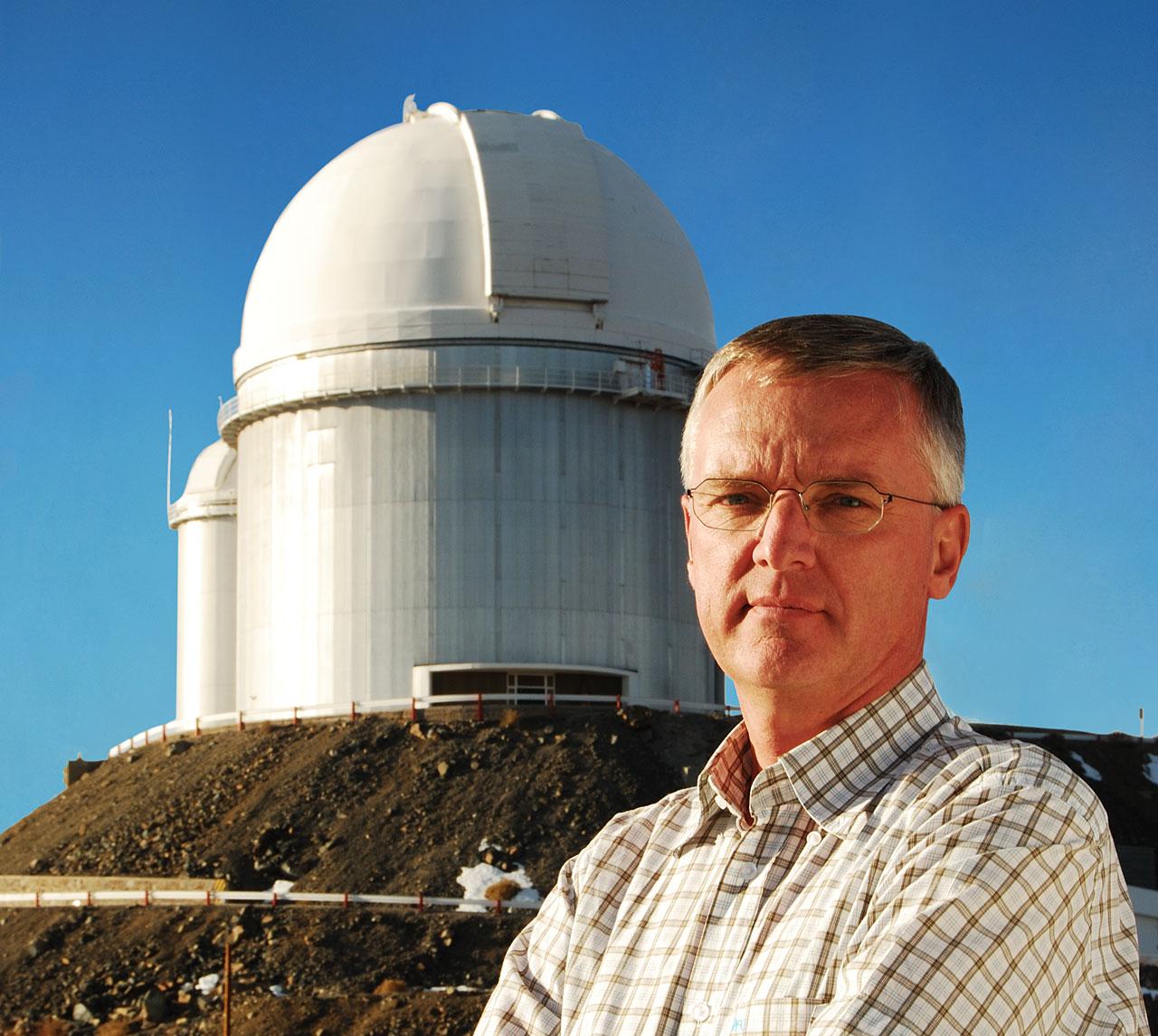 Prof. Tim de Zeeuw visiting La Silla Observatory