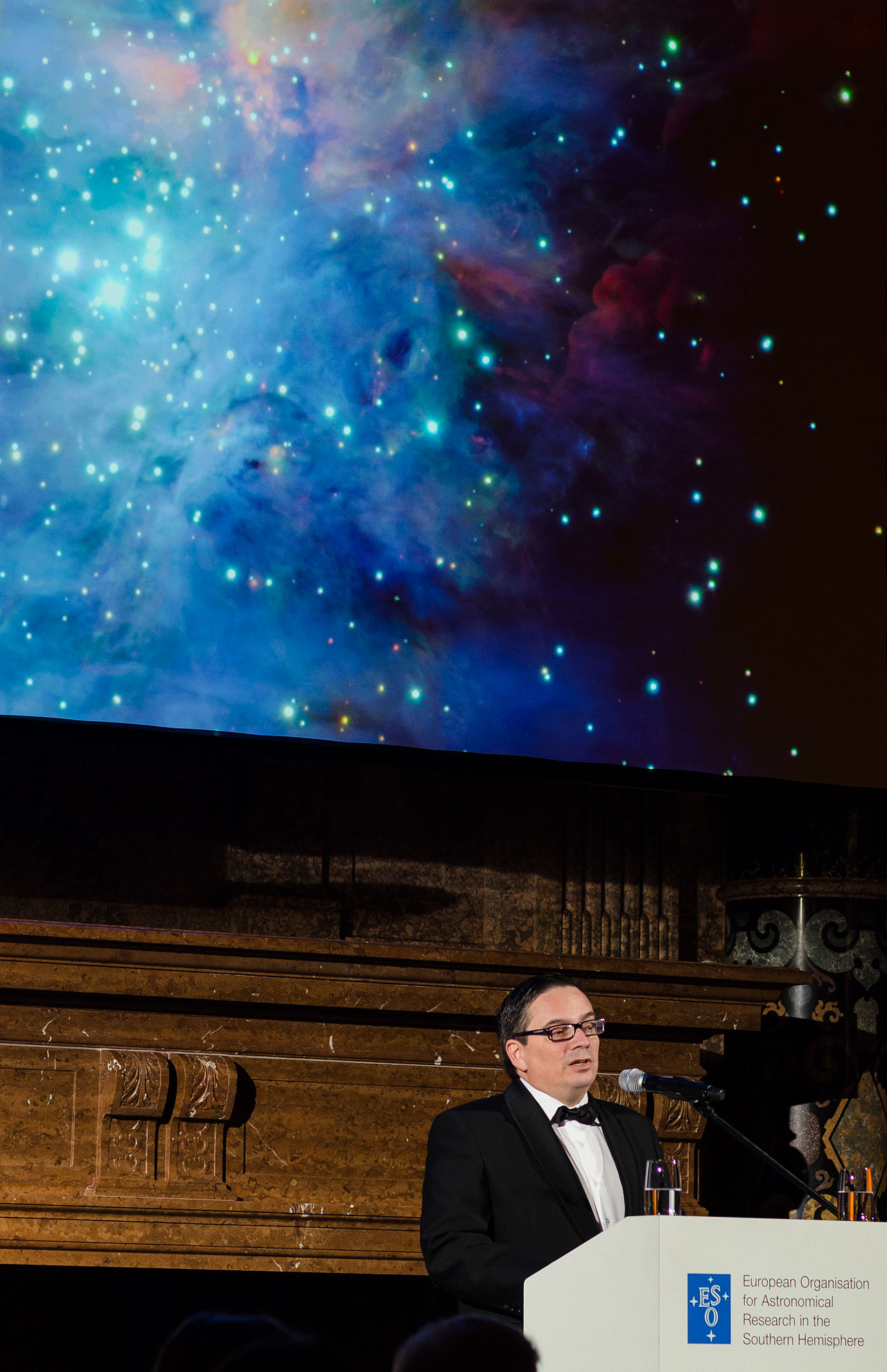 Xavier Barcons and the Orion Nebula at the ESO 50th Anniversary Gala Event