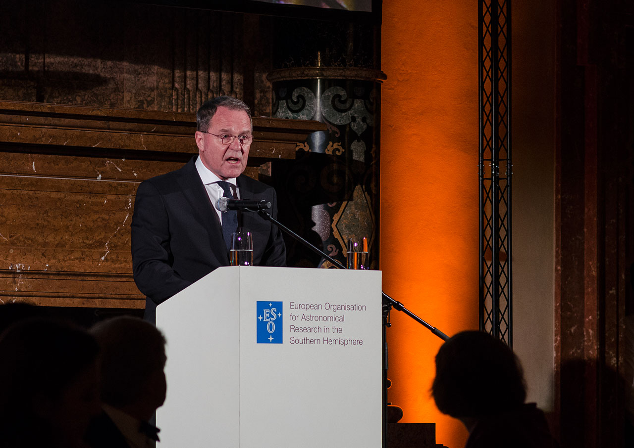 Wolfgang Heubisch at the ESO 50th Anniversary Gala Event